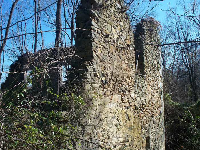 Graves Mill ruins