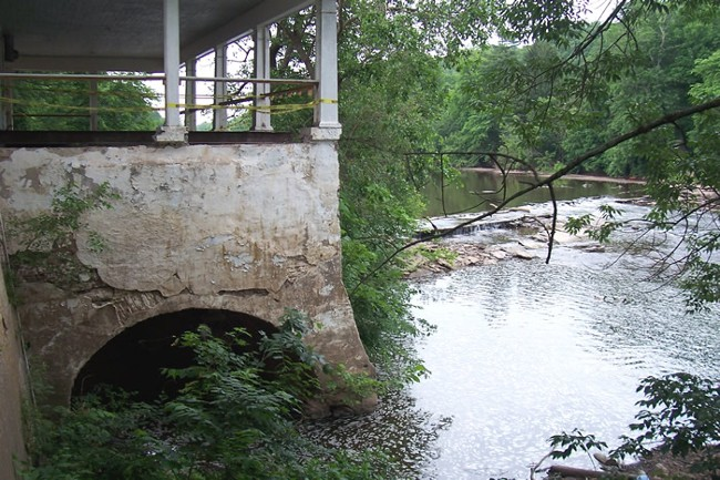 Site Flood Crest Mill Old Mill House Montgomery Co